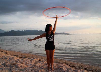 Mishie Hoops beach