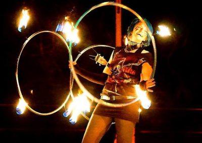 Emma Kenna fire hooping