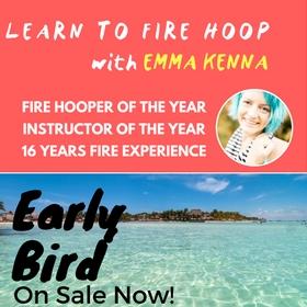 Learn to fire hula hoop